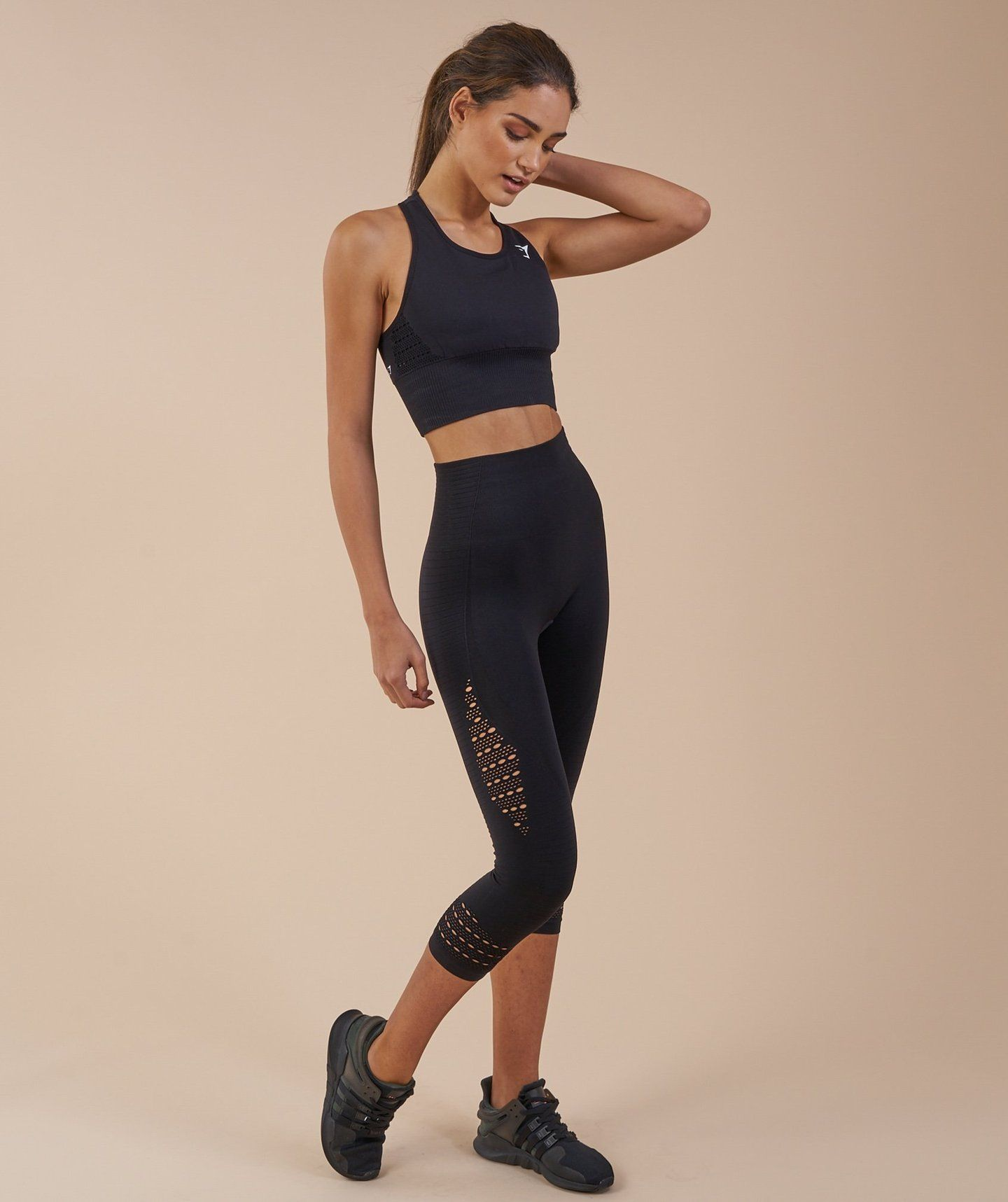 aecd8da86fa50 Gymshark Seamless Energy High Waisted Cropped Leggings - Black 2