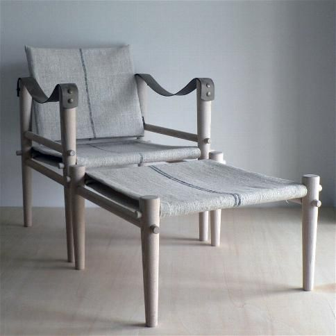 Temps libre\' brand, made in France campaign chair that folds down ...