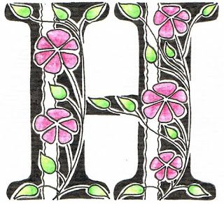 Creative Doodling with Judy West: Stripes & Flowers Alphabet. Illustrated instructions