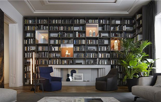 Some amazing looking bookcases from poliform at the click through