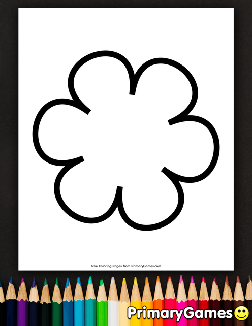 Spring Coloring Pages eBook: Simple Flower Pattern | Coloring Pages ...