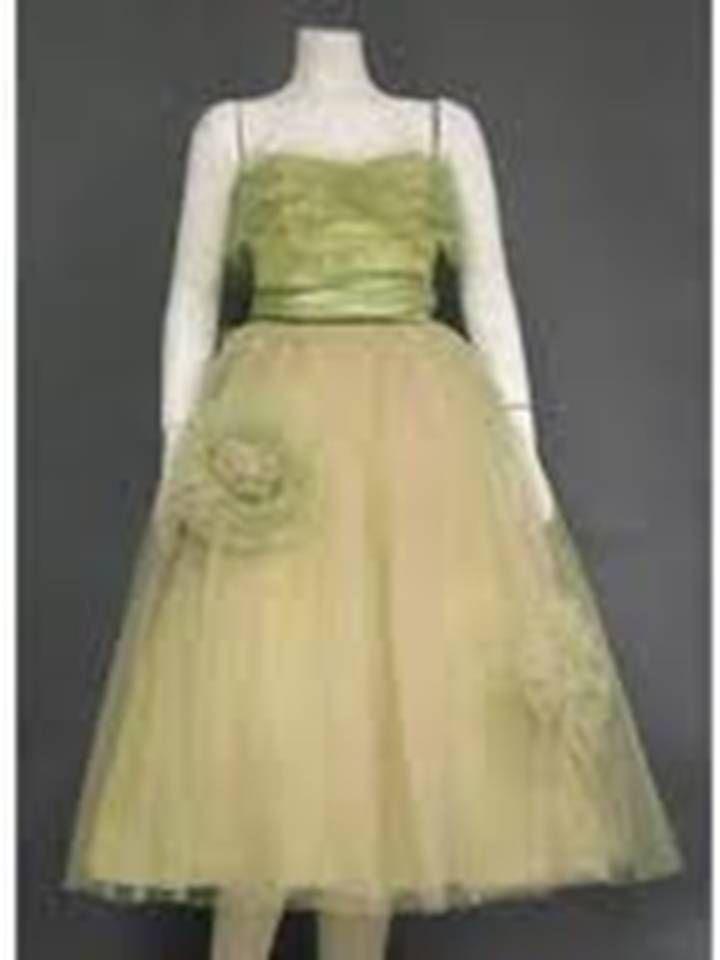 Charming Pink & Green Tulle Vintage Prom Dress | Vintage Fashion ...