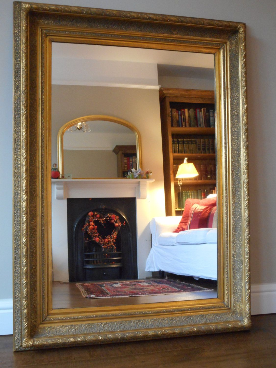 Antique Wall Mirrors antique style large gilt frame wall mirrorconsort pictures and