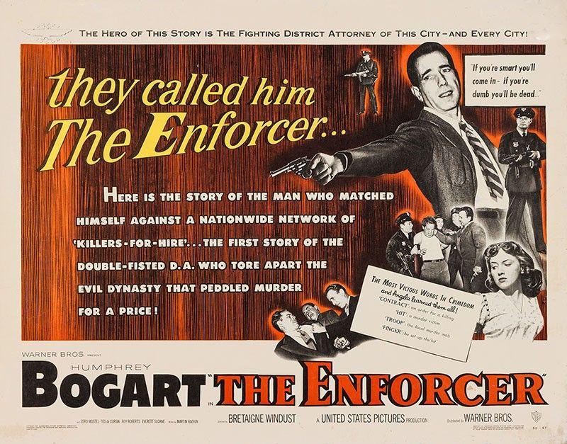 The Enforcer (1951) | Bogart movies, Bogart, Humphrey bogart