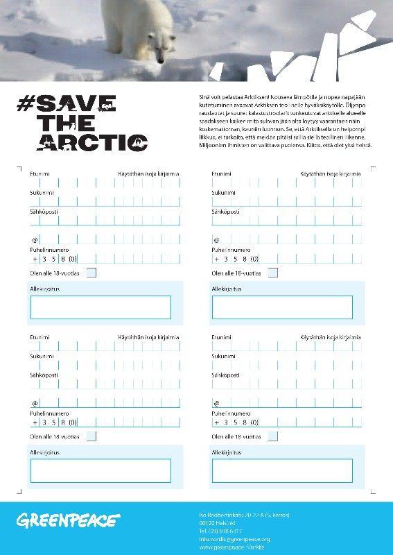 Allekirjoita vetoomus Arktiksen puolesta