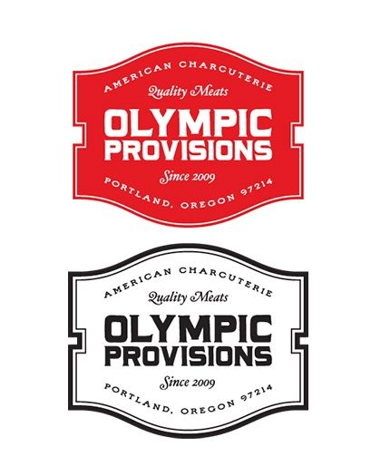 Vintage  Bold logo mark for Olympic Provisions by OMFGCo.com. #z3