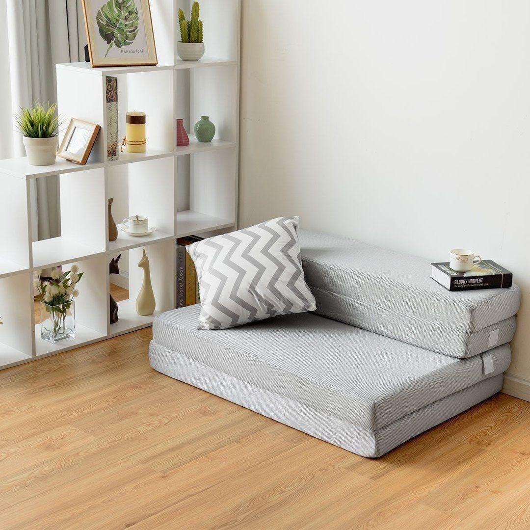 """4"""" Folding Sofa Bed Foam Mattress with Handles Mattress"""