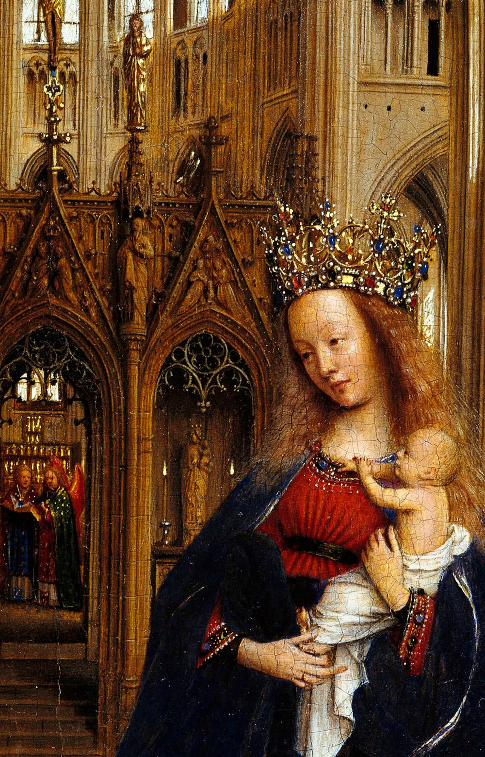 Arte Renacentista Flamenco Jan Van Eyck Detail From The Madonna In The Church 1438