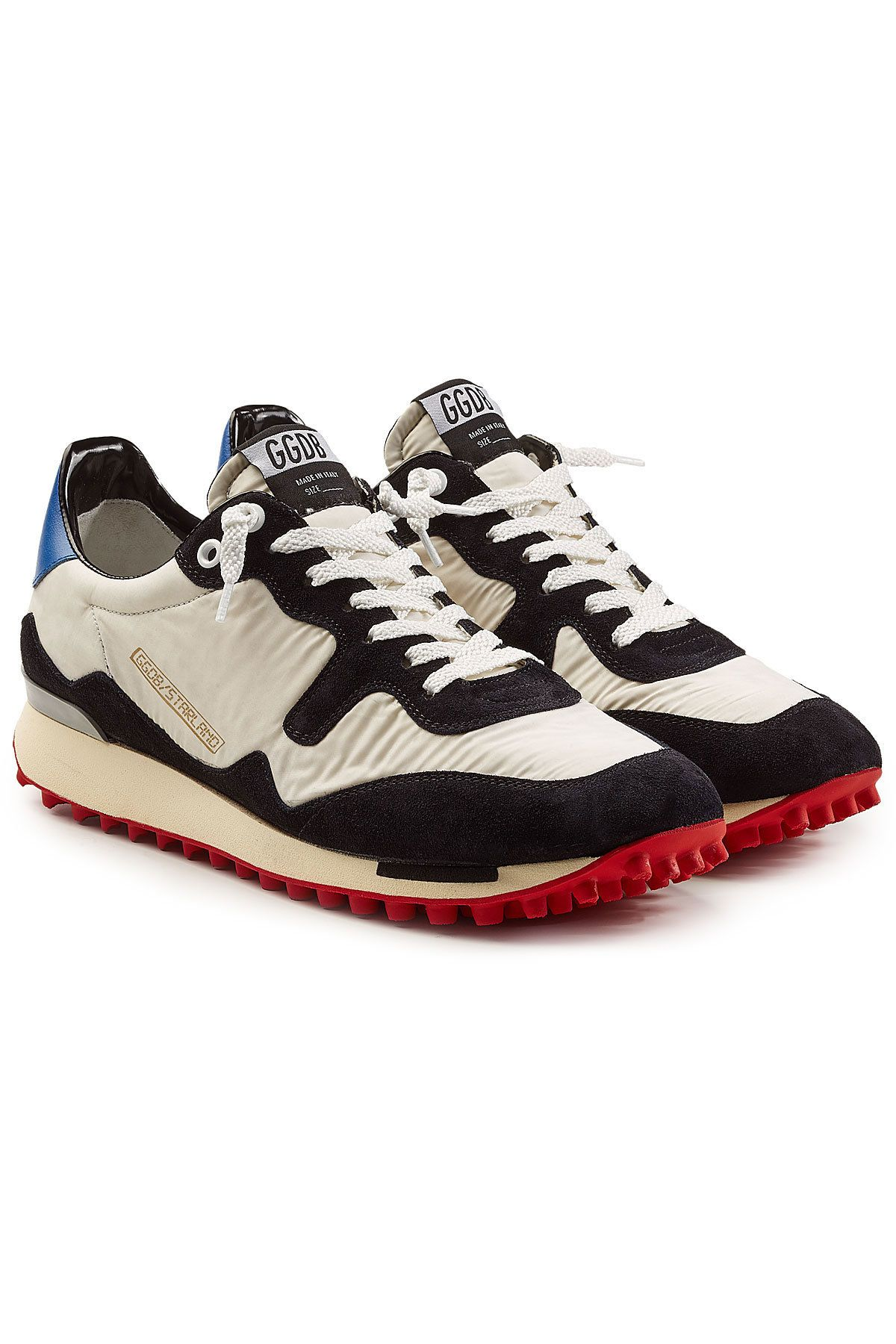 5cedac1948593 GOLDEN GOOSE GOLDEN GOOSE DELUXE BRAND STARLAND SUEDE AND LEATHER SNEAKERS.   goldengoose  shoes