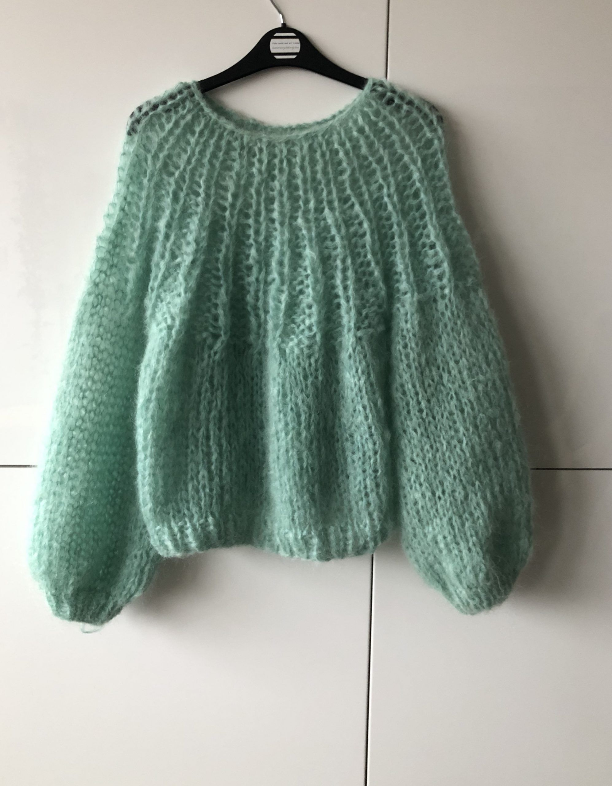 Chunkyknit Spinner sweater mohair | mint groen – You had me