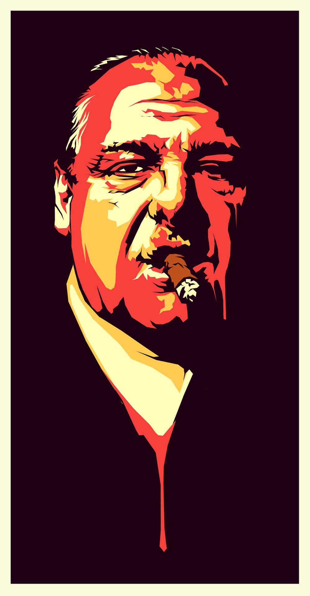 Farewell James Gandolfini Anthony Soprano Illustration