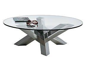 Tavolini In Vetro E Acciaio : Tavolino in vetro e acciaio new york argento 36x105 cm design