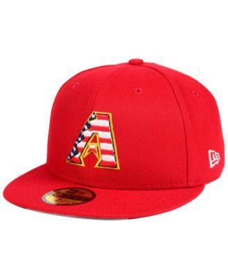 finest selection 26ac2 71c7e New Era Boys  Arizona Diamondbacks Stars and Stripes 59FIFTY Fitted Cap -  Red 6 1 2