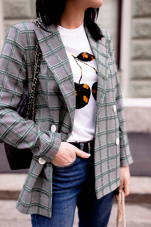 Outfit Inspiration für ein Frühlingsoutfit mit dezentem