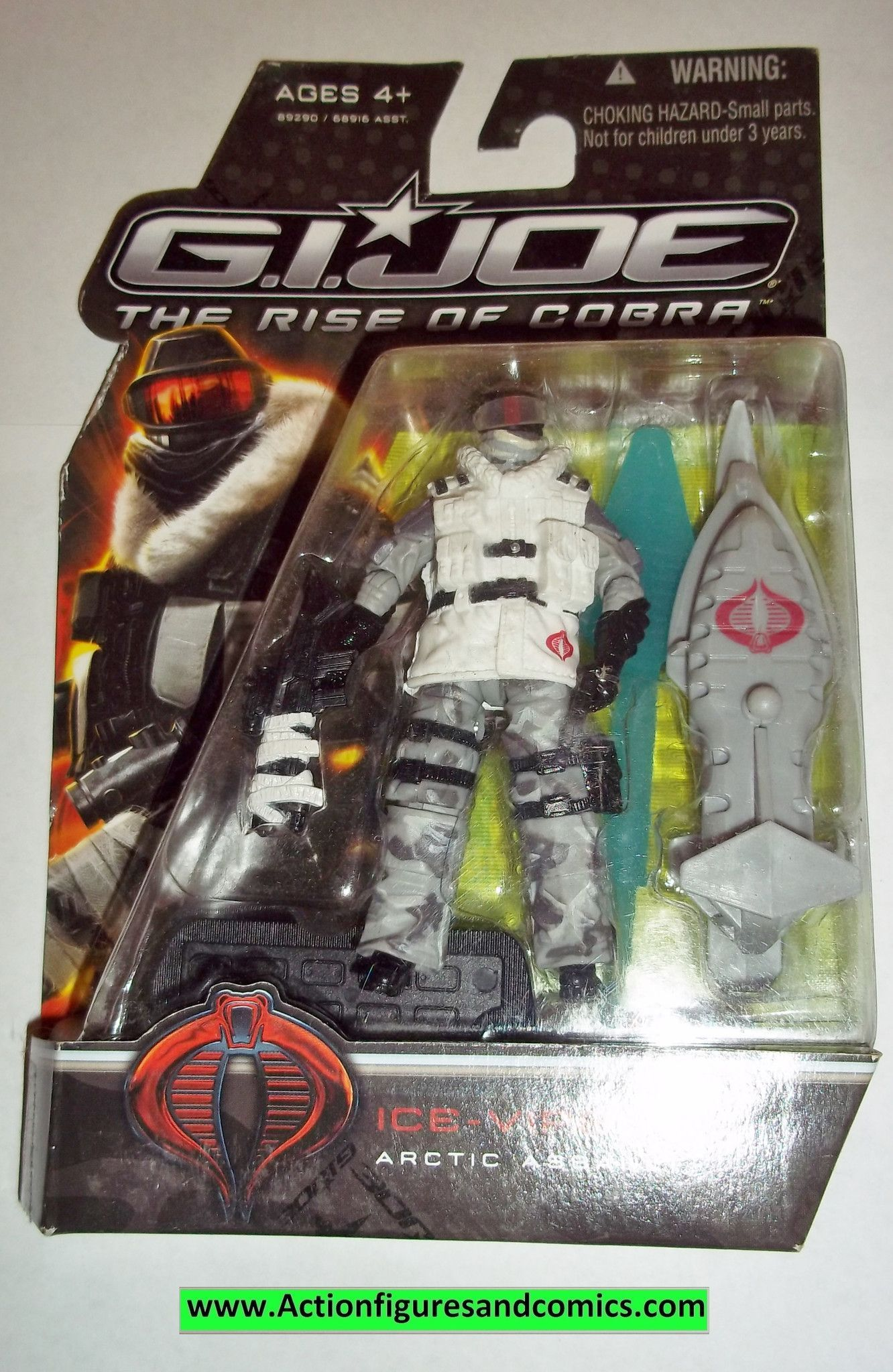 gi joe ice viper cobra 2009 v3 v 3 rise of cobra movie series moc mip mib action figures gi joe action figures movies pinterest