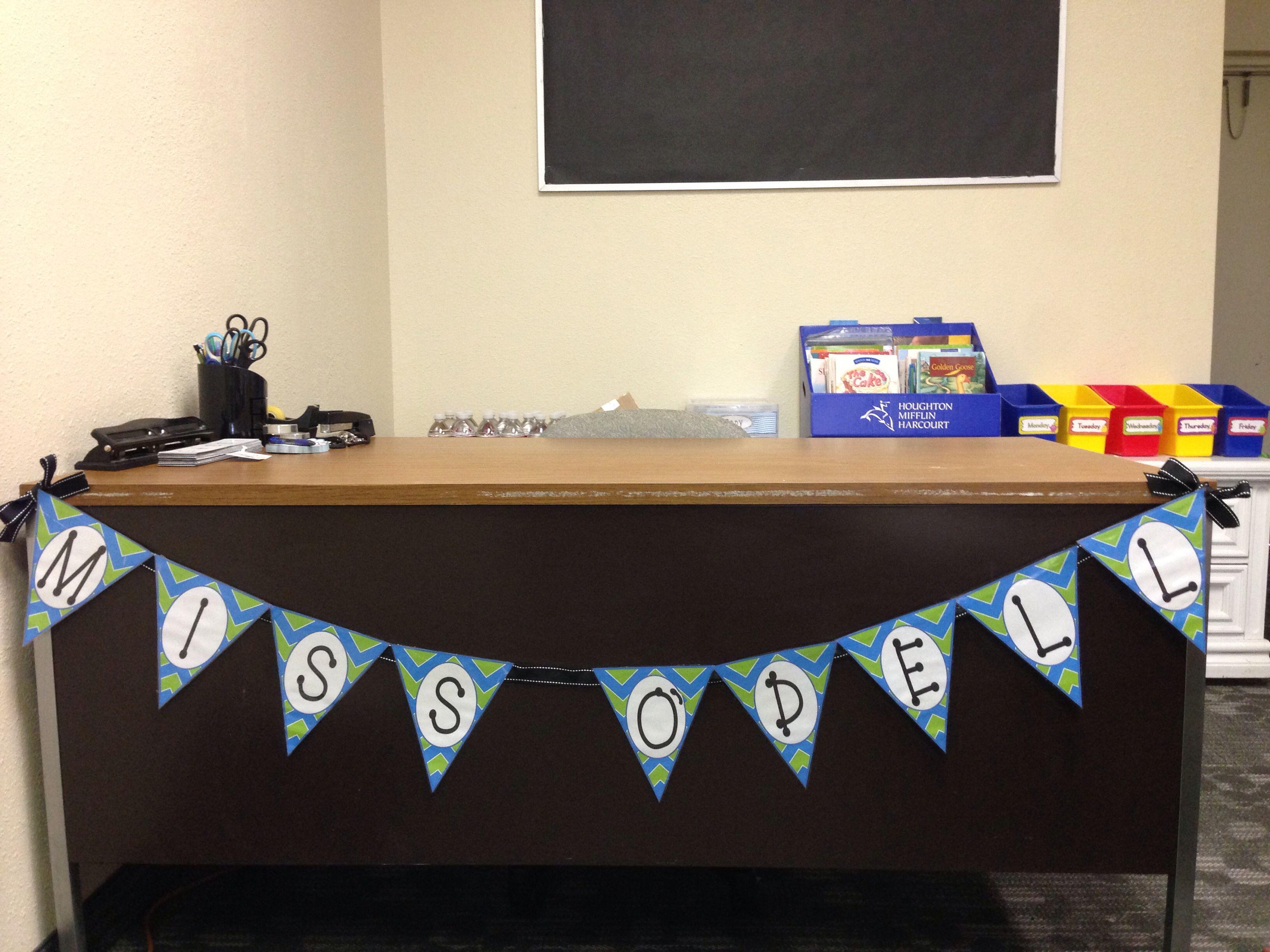 Teacher S Desk Pennant Banner