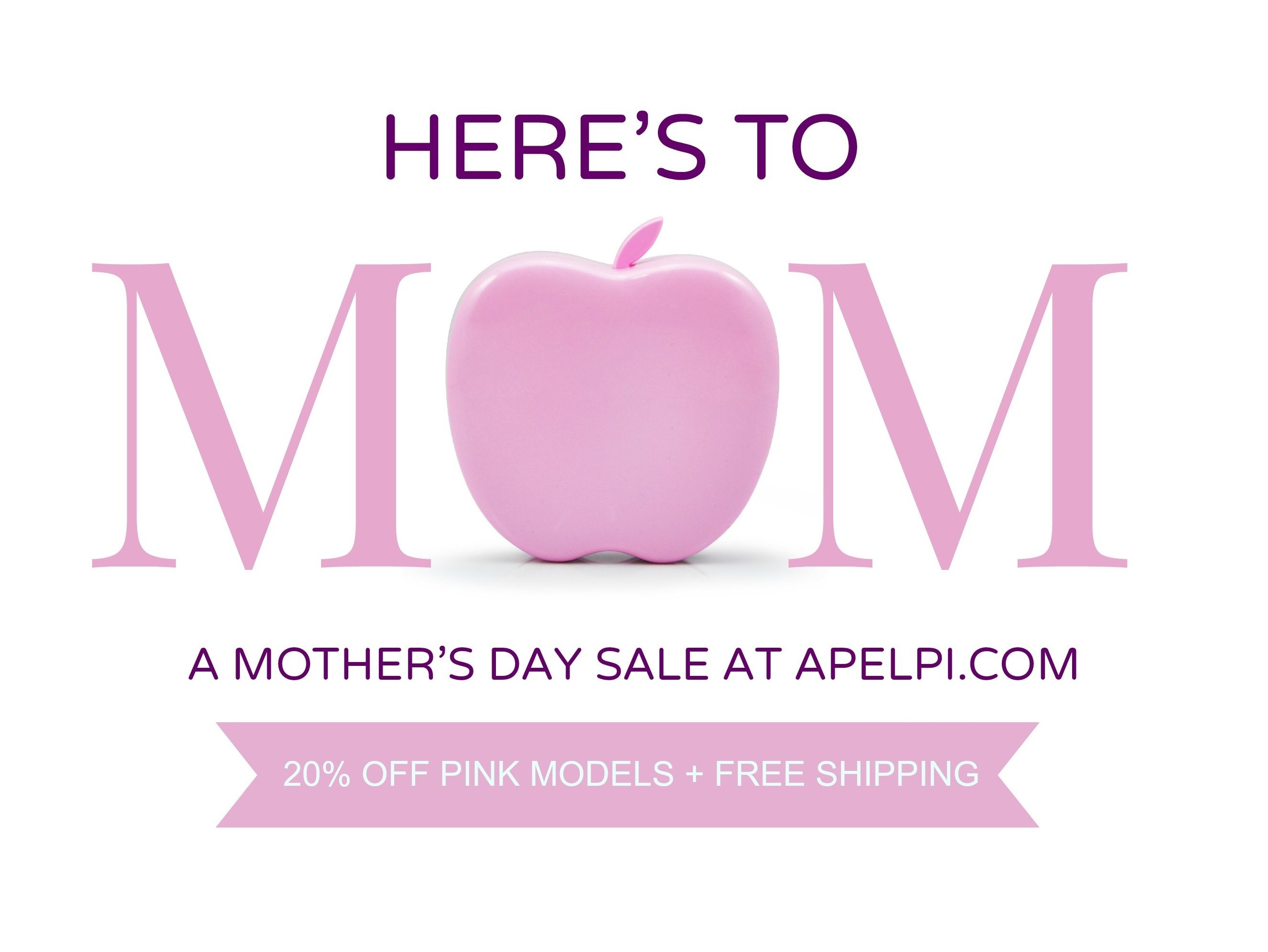 Need a Mother's Day gift that will impress? Something unique, gorgeous and functional? Apelpi iPhone and Android phone chargers are the answer! Order today to receive before May 11 and save 20%* off plus get Free Shipping!  http://www.apelpi.com/collections/all *offer available on Pink models only.