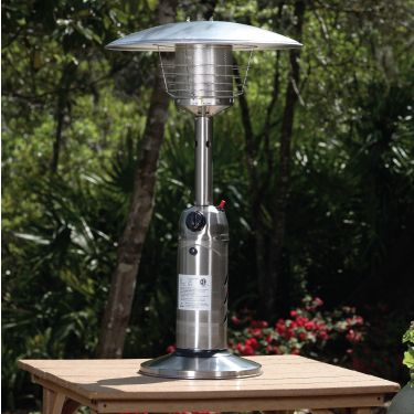 Stainless Steel Table Top Patio Heater This Handsome Tabletop Raises The Outdoor