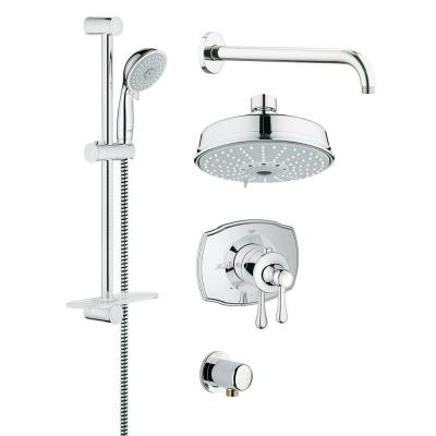 Grohe Grohflex Authentic 4 Spray Handheld Shower And Shower Head
