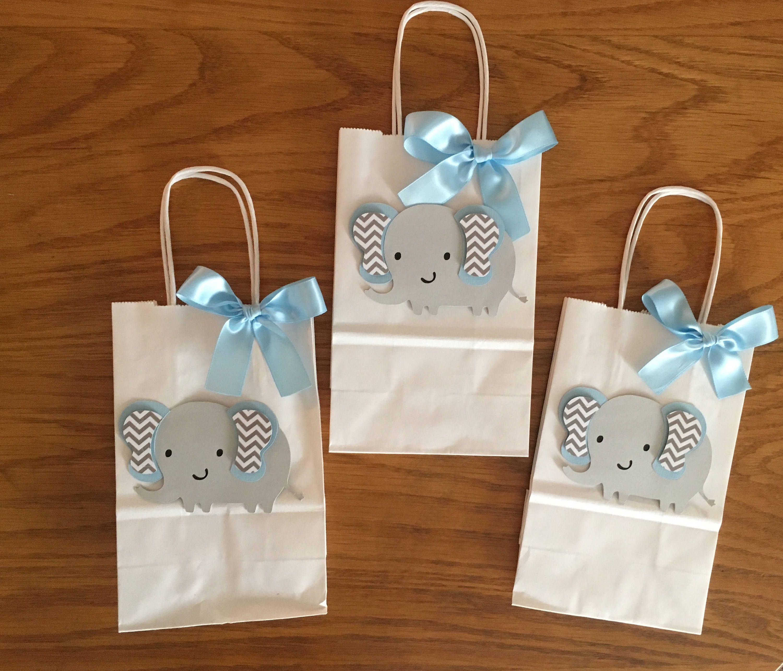 Favor Bags/ Elephant favor bags/ baby shower favor bags/