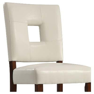 Troy Keyhole Dining Chair Wood White Set Of 2 Inspire Q Red