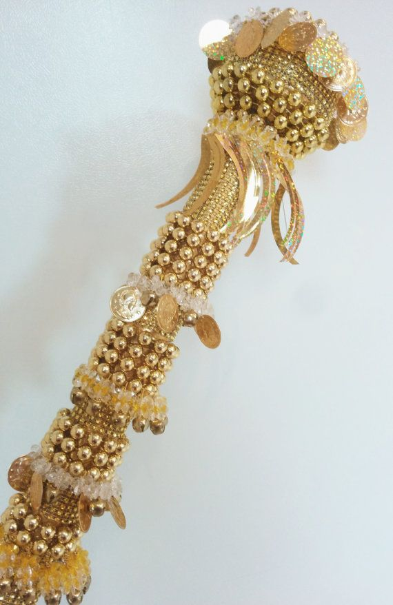 Wedding Stick Kopala Wedding Gold Beads Handmade