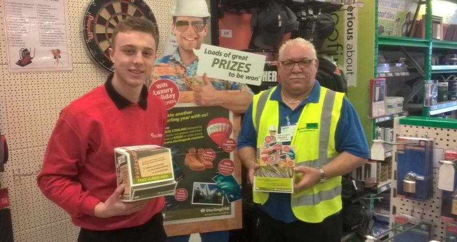 The guys at Buildbase in South Hykeham receiving their SterlingOSB Campaign info pack - lots of giveaways this year. Let us know when you receive yours!
