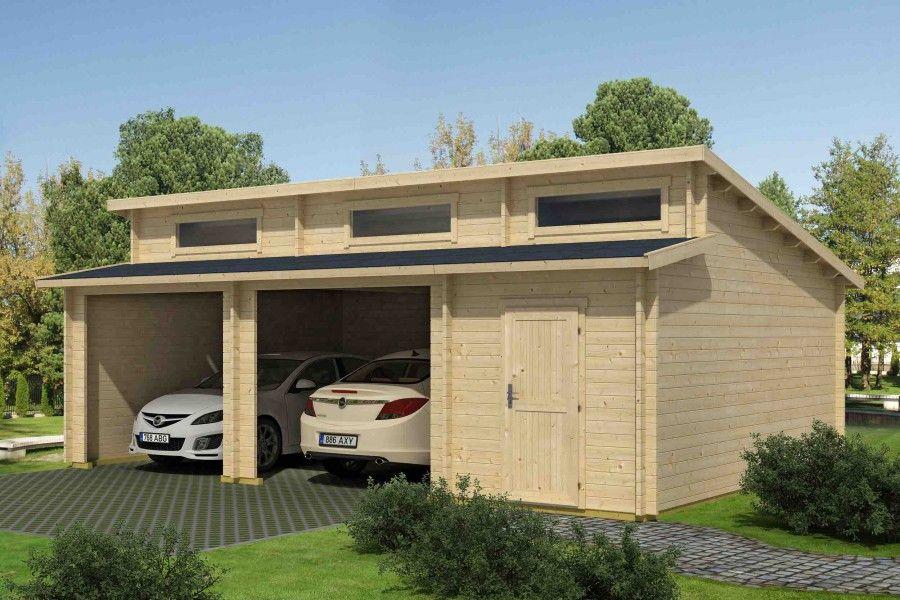 Holzgarage Modell Hawaii Ohne Tore In 2020 Holzgarage Carport Carport Holz
