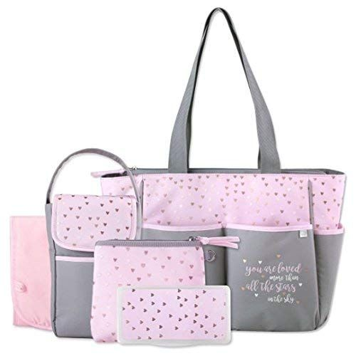 Personalized 5 In 1 Diaper Bag Set Premium Baby