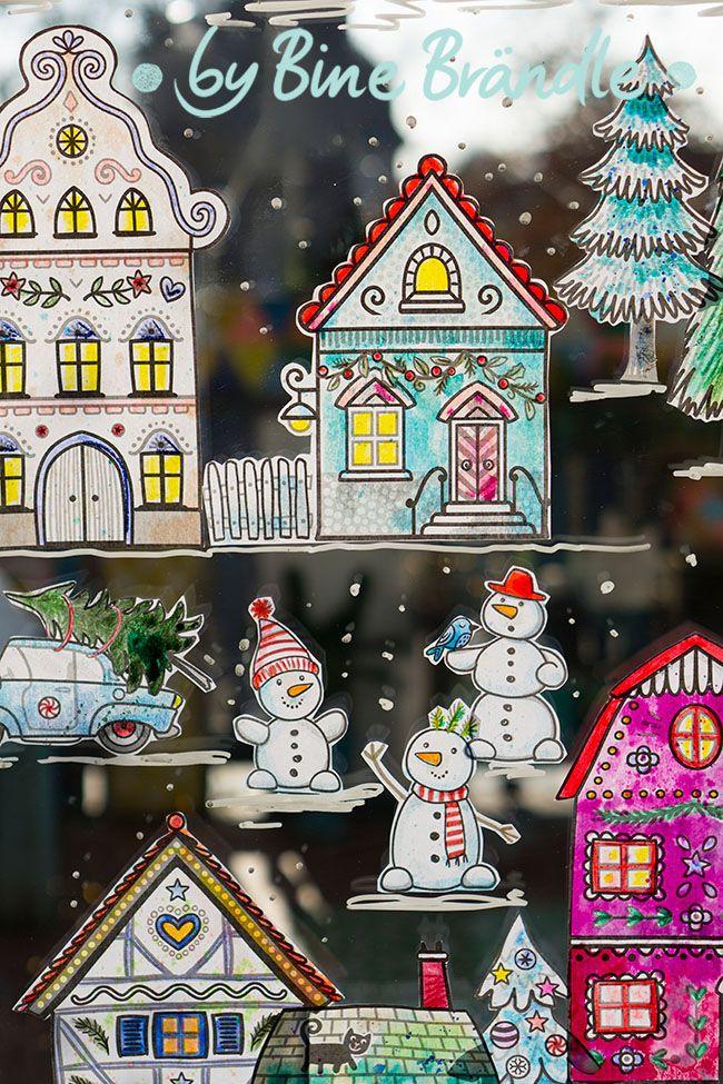 die große winterstadt  bines shop  fensterbilder