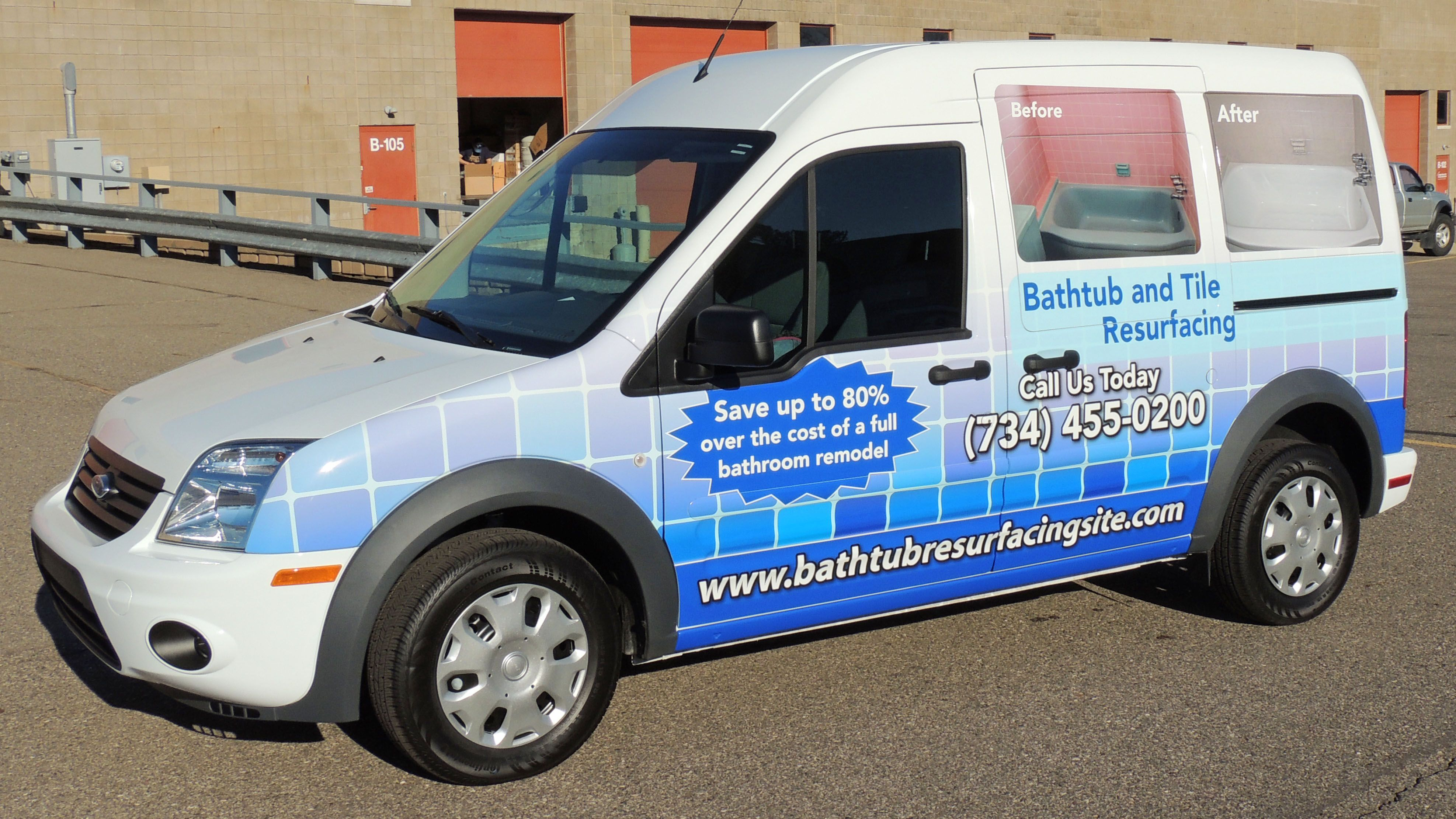 Chevy Transit full vehicle wrap for Surface Solutions. Call us at ...