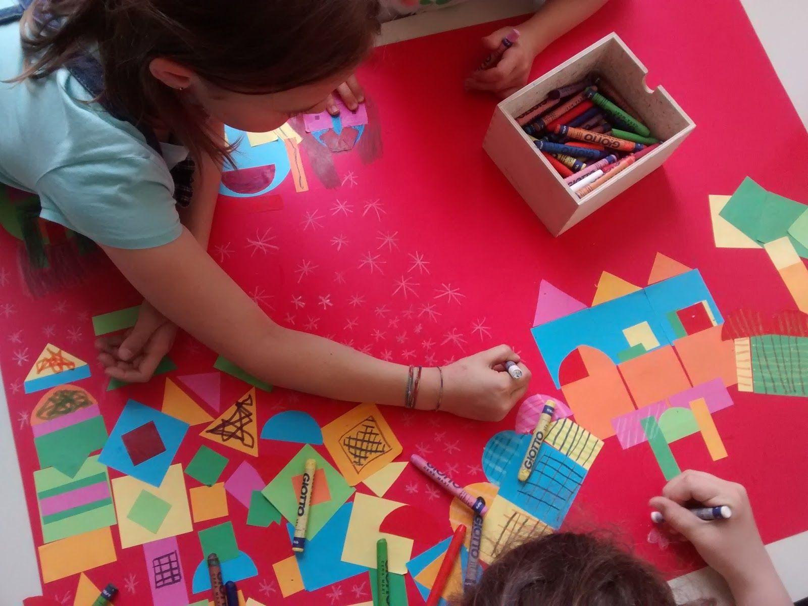 Sfondi Bambini ~ I bambini hanno composto dei paesaggi ispirandosi alle forme e ai