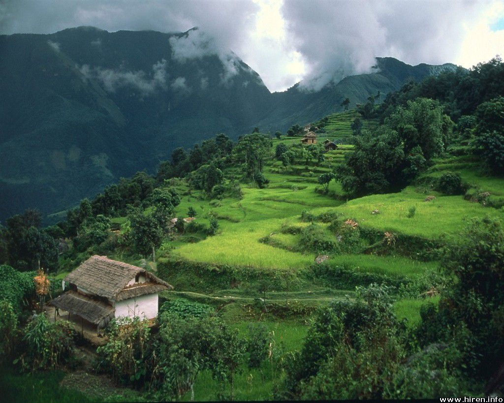house on the hill on nepal - http://69hdwallpapers.com/house-on-the-hill-on-nepal/
