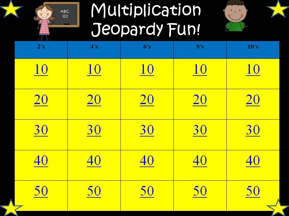 Www Math Play Com Math Jeopardy Html Math Jeopardy Is A Fun Game For 3rd And 4th Graders