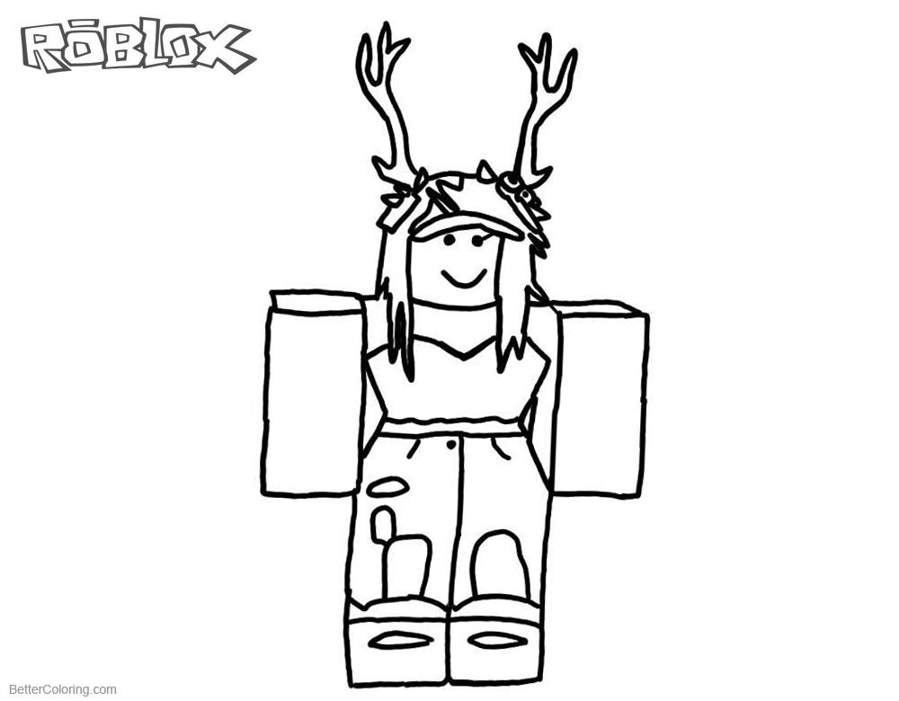 Roblox Characters Coloring Pages In Girl Roblox Coloring Pages