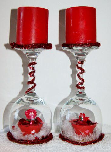 Valentine 39 s day homemade candle holder globes with for Homemade candle holders
