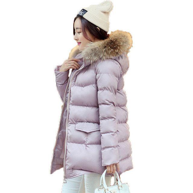 Large Size 2016 New Style Winter Jacket Women Short Parka Jacket Real fur Hood Women Cotton Padded Jacket Abrigos Mujer LH522