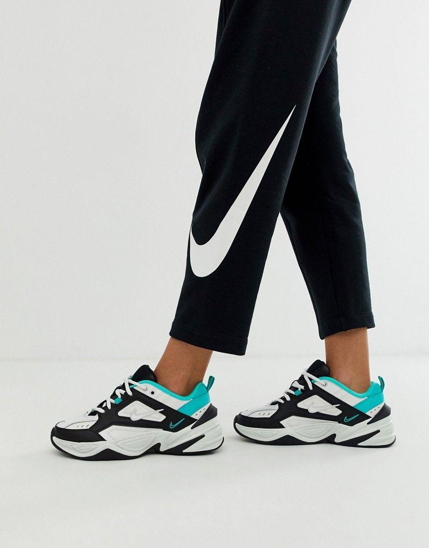 better sale reliable quality Nike – M2K Tekno – Sneaker in Schwarzweiß und Grün in 2019 ...