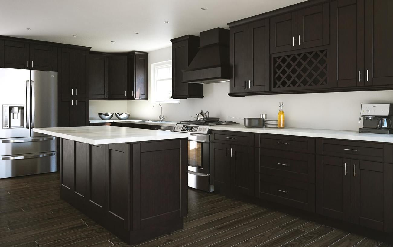 Manchester Shaker Espresso Kitchen Cabinets Willow Lane Cabinetry