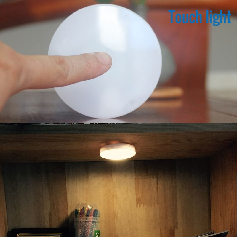 Brightness Touch Sensor Night Light Wireless Mini Led Wall Lamp Battery Lighting For Under Kitchen Cabinets Closet Sensor Night Lights Led Wall Lamp Wall Lamp