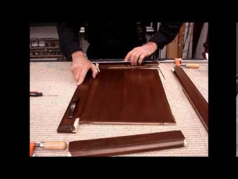 How To Repair Restore A Broken Cabinet Door With Glue And Stain