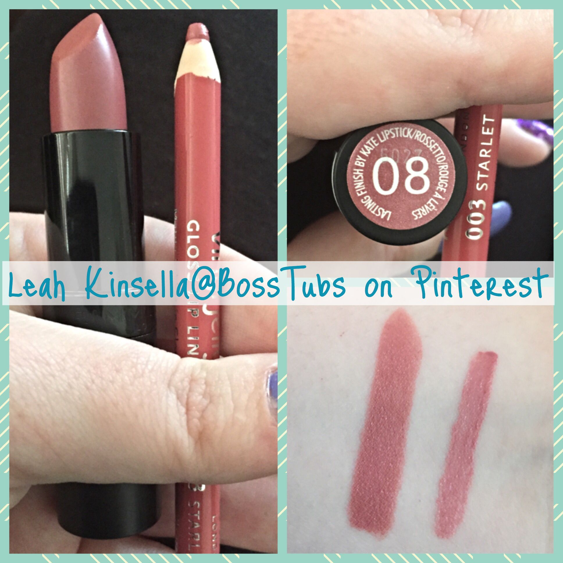 Swatches on my very fair skin (Mac NW15). Rimmel Kate Moss Lasting ...