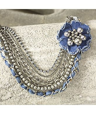 Necklace, Denim from Monroe and Main