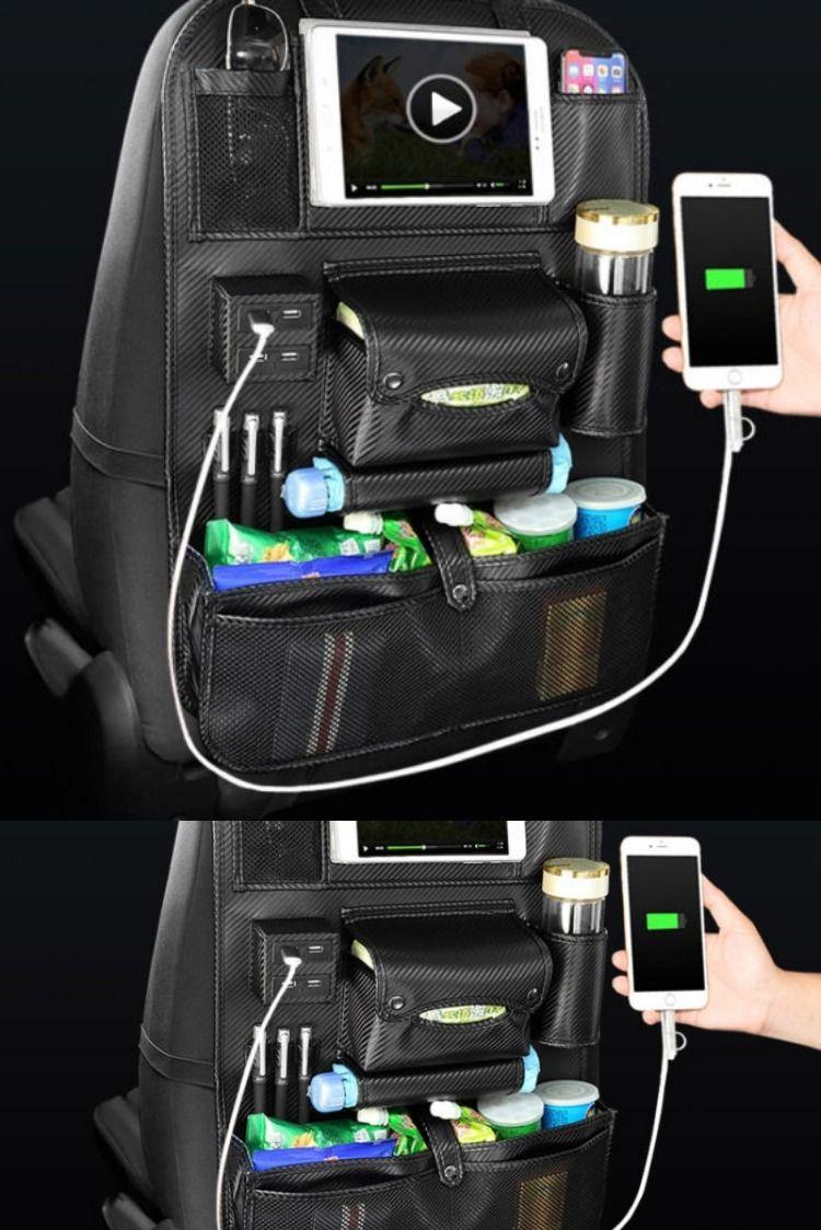 Auto Organizer Backseat Leather Storage (With images