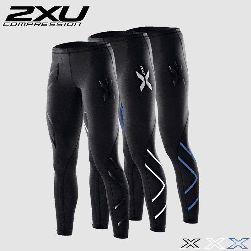 2XU 남성 압축 꽉 긴 바지 검은 바지 조깅 바지 이모티콘 조깅 이모티콘 슬림핏 말라 족 아저씨 피트니스 바지