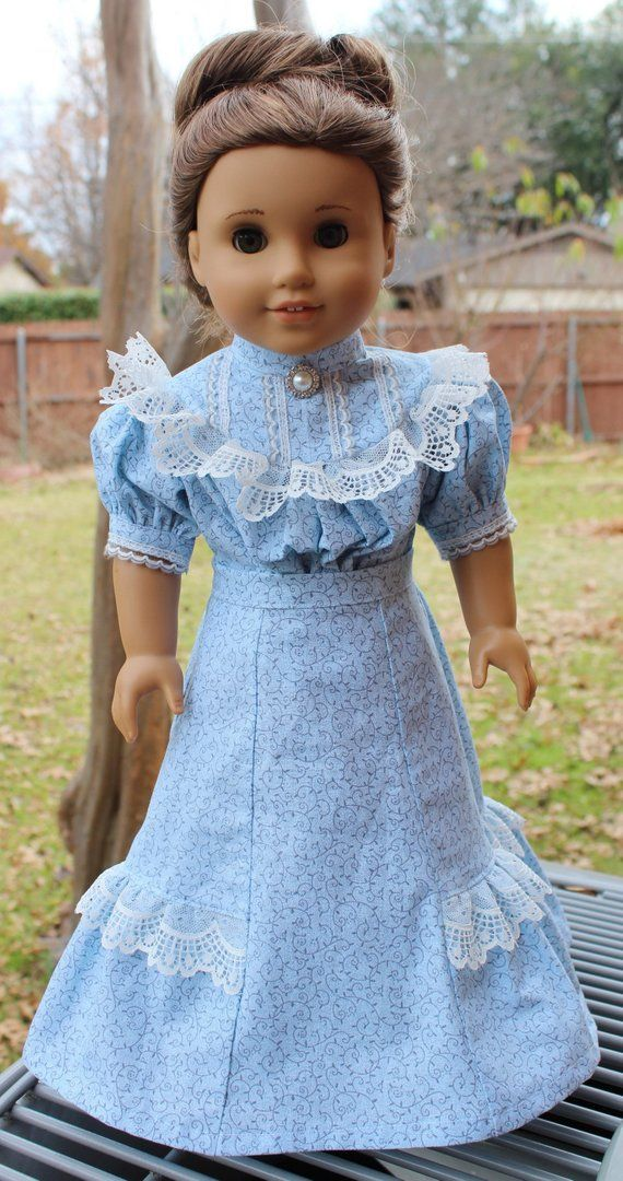 18 Doll Clothes Edwardian Era/ Gibson Girl Dress Fits American Girl Samantha, Rebecca #dollvictoriandressstyles