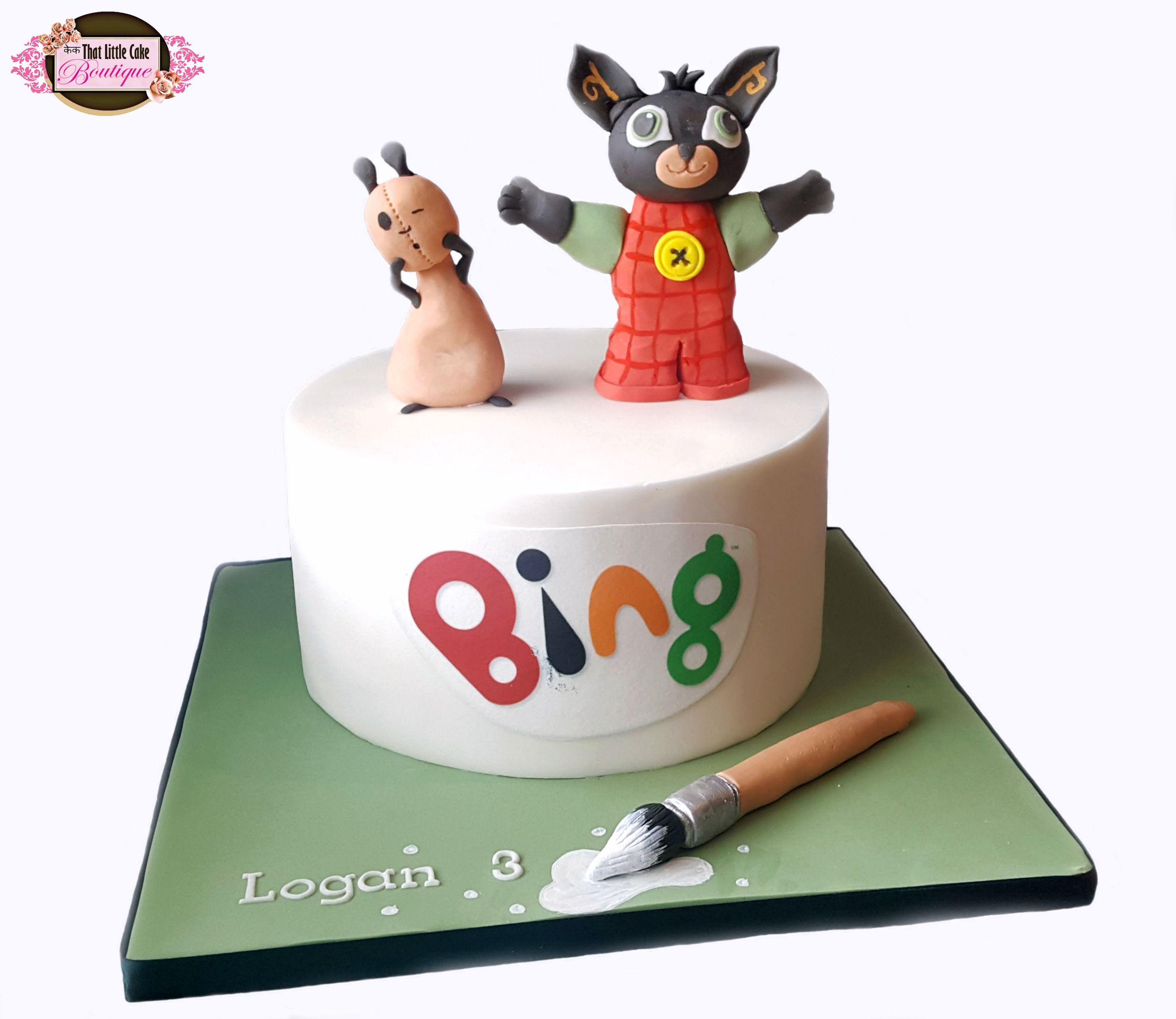 Bing Cake Cake Bing Paintbrush Cbeebies Round One Tier 3d