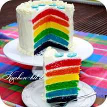 ausgefallene bunte regenbogentorte torten kuchen. Black Bedroom Furniture Sets. Home Design Ideas