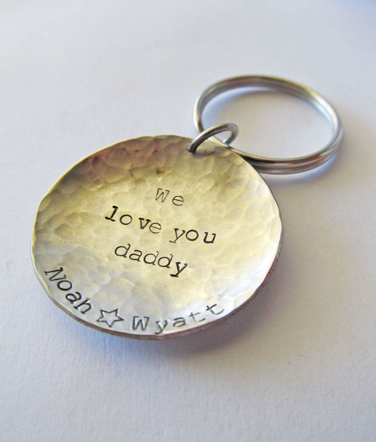 Personalized Keychain Mens Womens Dad by JewelryByRMSmith 1e245d9fcc