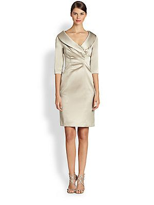 258d0cab5d6 Kay Unger Stretch Satin Shawl Collar Dress This is Mom s dress ...